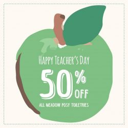 Cath Kidston: Teachers' Day Promotion 50% OFF All Meadow Posy Toiletries