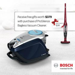 Best Denki: Receive a Readyy'y Handstick & shopping vouchers with purchase of Relaxx'x ProSilence Bagless Vacuum Cleaner