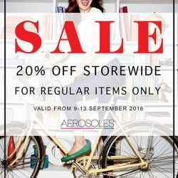 Aerosoles: Enjoy 20% off storewide for all regular priced items