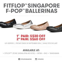 FitFlop: Selected F-POP™ BALLERINAS up to $60 OFF