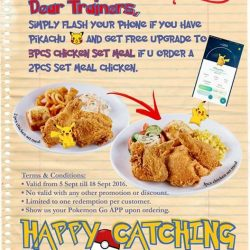 Chic-a-boo Fried Chicken: Flash your Pikachu & Get Free Upgrade on your Chicken Set Meal