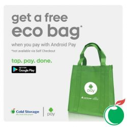 Cold Storage: Pay with Android Pay & get a FREE Eco bag