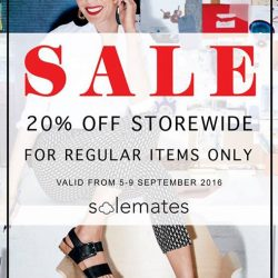 Solemates: Enjoy 20% off storewide for all regular priced items