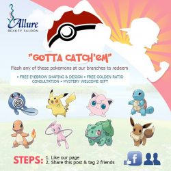 Allure Beauty Saloon: Flash any of these Pokemons to redeem free beauty services