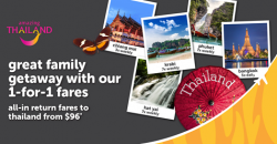 Tigerair: 1-for-1 Fares to Krabi, Chiang Mai, Phuket and Bangkok with All-in Return Fares from $96