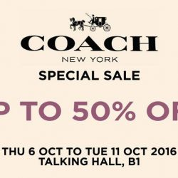 Takashimaya: Coach Special Sale Up to 50% OFF Selected Ladies' & Men's Bags, Accessories & Footwear + Up to Additional 20% OFF for Members