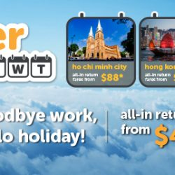Tigerair: Airfare Promotion All-in Return Fares from $49 to Ho Chi Minh City, Hong Kong, Taipei & More!