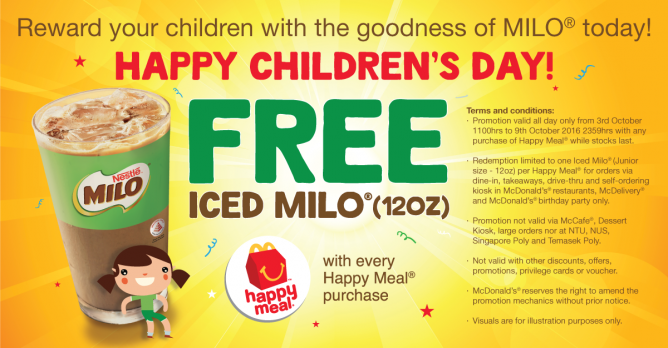 McDonald's: FREE Iced Milo (12oz) with Every Happy Meal Purchase
