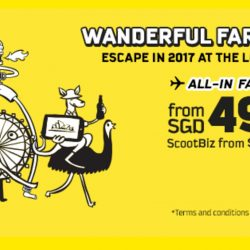 FlyScoot: Airfare Promotion for 2017 from $49 + Coupon Code for 10% OFF FlyBag & FlyBagEat Fares