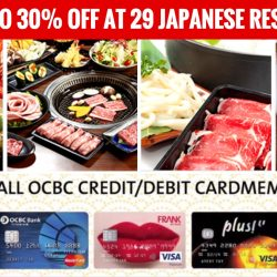 OCBC Cards: Enjoy Up to 30% OFF at 29 Japanese Restaurants