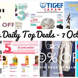 BQ's Daily Top Deals: RedMart Birthday Sale with $5 Deals, Starbucks Buy 1 Get 1 FREE, Zalora Additional 20% OFF Menswear, PaRiSiLk Anniversary Sale Up to 90% OFF, G2000 Mid Season Sale Up to 50% OFF, Takashimaya Tiger Japan Sale & Coach Special Sale!
