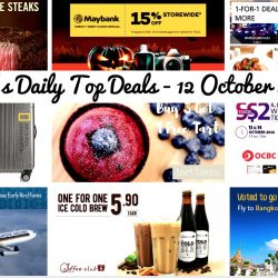 BQ's Daily Top Deals: O'Coffee Club 1-for-1 Signature Cold Brew, DBS/POSB Cards 1-for-1 Deals & Other Offers in October, Singapore Airlines Early Bird Fares with American Express, $2 Udders Ice Cream at OCBC Centre, BHG Backpacks & Luggage Sale, Tart Blanc Buy 3 Get 1 Free Tart, Lazada 15% OFF for Maybank Cards, Outback Steakhouse 25% off Signature Steaks on Wednesdays & ZUJI Massive Discounts on Cities Travellers Love!