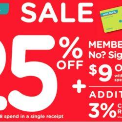 Watsons: Members' Only Sale - Storewide 25% OFF + Additional $9 OFF