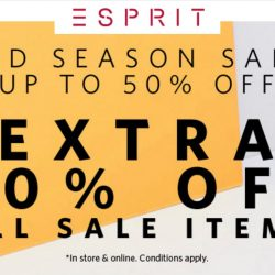 Esprit: Mid Season Up to 50% OFF + Extra 20% OFF All Sale Items