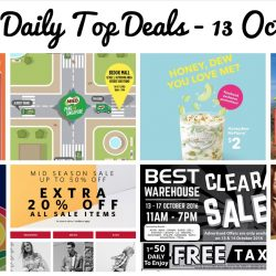 BQ's Daily Top Deals: Best Denki Warehouse Clearance Sale, Guardian 20% OFF Storewide, MILO Van at Bedok Mall, McDonald's Honeydew McFlurry at $2, Tampopo @Takashimaya Grand Opening, GAP Birthday Bash, Esprit Mid Season Sale & Royal Gong Cha 1-for-1 Drinks