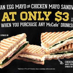 McCafé: Pay only $3 for an Egg Mayo or Chicken Mayo Sandwich when You Purchase any McCafe drinks!