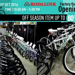 Rodalink: Factory Outlet Opening Sale Up to 80% OFF Bikes, Parts & Accessories