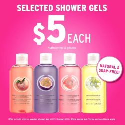 The Body Shop: Selected Shower Gels at $5 Each!