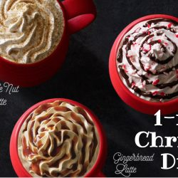 Starbucks: 1-for-1 Christmas Drink for Starbucks Cardmembers!
