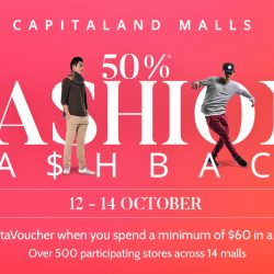 CapitaLand Malls: 50% OFF Cashback when You Spend at over 500 Fashion Outlets such as Pandora, Charles & Keith, Nine West & More