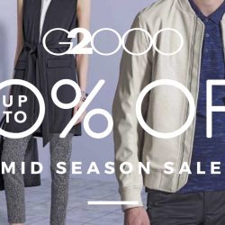 G2000: Mid Season Sale Up to 50% OFF + Additional 15% OFF Min. 3 Pcs for DBS/POSB & wt+ Members