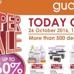 Guardian: 1-Day Super Sale with Up to 60% OFF + Additional 5% OFF for PAssion Cardmembers!