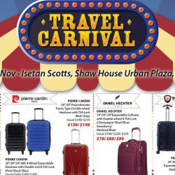 Isetan Scotts: Travel Carnival with Luggage and Travel Essentials on Sale!