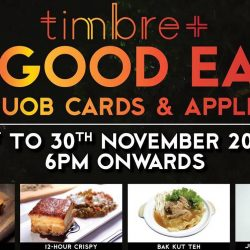UOB: S$1 Dishes at Dancing Crab Shack, Bottle Shop and more at Timbre+