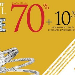 Goldheart Jewelry: Jewel Sale Up to 70% OFF + Extra 10% for Goldheart and Citibank cardmembers