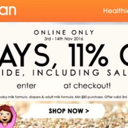 Guardian: Coupon Code for 11% OFF Storewide Including Sale Items Online