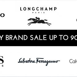 Lagardère Travel Retail: Luxury Brand Sale Up to 90% OFF Longchamp, Hugo Boss, CK Jeans, Ferragamo & More + Additional 5% OFF for Citibank Cards