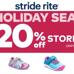 Stride Rite: Pre-Holiday Season Sale with 20% OFF Storewide + Additional $10 OFF Online!