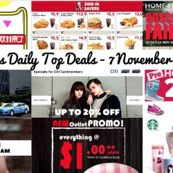 BQ's Daily Top Deals: Shop at Double 11 Crazy Sale with EZBUY, $5 OFF Taxi Ride, KFC Coupons, $1++ Sushi, 25% OFF Hotel Buffet & More!
