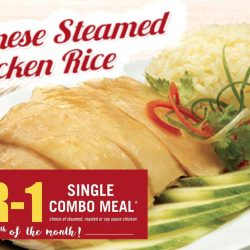 The Chicken Rice Shop: 1-for-1 Single Combo Meal Every 10th of Each Month