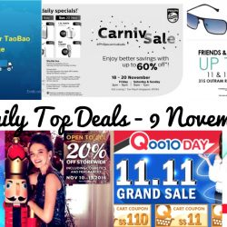 BQ's Daily Top Deals: Use TransRush at Double 11 Sale for FREE Shipping, Qoo10 11.11 Grand Sale & Up to $110 Cart Coupons, Philips Carnival Sale, Singtel Online CIS Sale, Eye Trendy Friends & Family Eyewear Charity Sales, Metro 20% OFF & More!