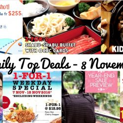 BQ's Daily Top Deals: ZUJI Flash Sale on 4 Airlines, 2-for-2 Shabu Shabu Buffet, Kids Dine Free at Seoul Garden, The Manhattan FISH MARKET 1-for-1 Weekday Special, 1-for-1 Chicken Rice Combo, Jetstar $0 Return Fares & More!