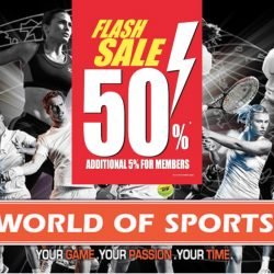 World of Sports: Double 11 Sale - 50% OFF Almost Everything in Stores!