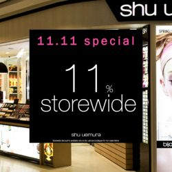 Shu Uemura: Singles' Day Special - Enjoy 11% OFF Storewide at All Boutiques