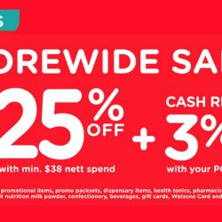 Watsons: Members' Only Sale - Storewide 25% OFF with Min. $38 Nett Spend