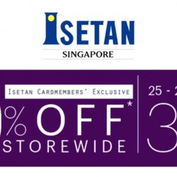 Isetan: Exclusive 10% OFF Storewide for Isetan Cardmembers!
