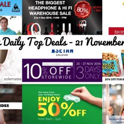 BQ's Daily Top Deals: 50% OFF GrabCar Rides, $5 OFF Next 5 Uber Rides, Hwee Seng Electronics Warehouse Sale, Le Coq Sportif / Arena Warehouse Sale, 10% OFF Storewide at Isetan for Members, Solemates Black Friday Sale & More!