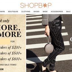 Shopbop: Coupon Code for Black Friday Sale Up to 25% OFF