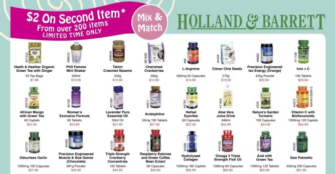 1273a088a920 Till 14 Nov 2016 Holland   Barrett   2 on Second Item Over 200 Items    Coupon Promotions