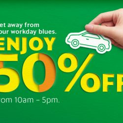 Grab: Coupon Code for 50% OFF All GrabCar Rides Between 10am to 5pm