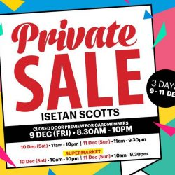 Isetan Scotts: Private Sale with 20% Beauty Bonus Voucher + Up to 75% OFF Raoul, Coach, Timberland, Esprit, Fred Perry, Calvin Klein & More!