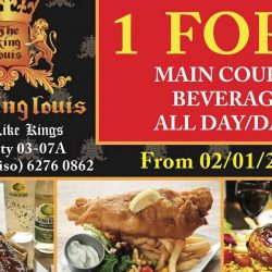The King Louis Bar & Grill: 1-for-1 Main Courses & Beverages All Day