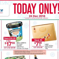 NTUC FairPrice: One Day Christmas Specials on Ben & Jerry's Ice Cream, Lindt Chocolate, Wine & More!