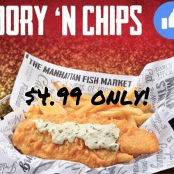 The Manhattan FISH MARKET: Enjoy Dory 'n Chips for only $4.99 for 3 Days!