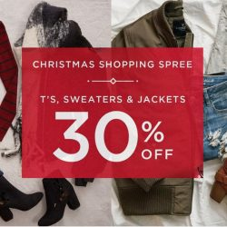 American Eagle Outfitters: Enjoy 30% OFF ALL Tees, Sweaters & Jackets!