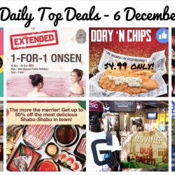 BQ's Daily Top Deals: 1-for-1 Onsen, Isetan Private Sale, Fox Kids & Baby End Season Sale, $4.99 Dory 'N Chips, Up to 50% off Shabu-Shabu Buffet & More!